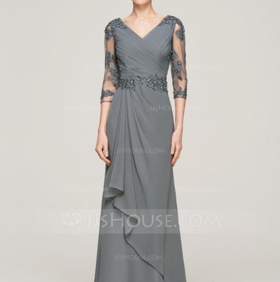 Jjshouse Dresses Mother Of The Bride Dress Vneck Sz 4 Poshmark
